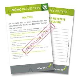 Mémo prevention - Routier