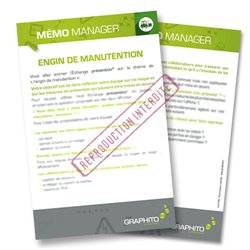 Mémo manager - Engin de manutention