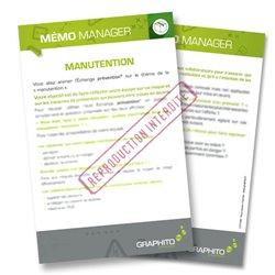 Mémo manager -  Manutention