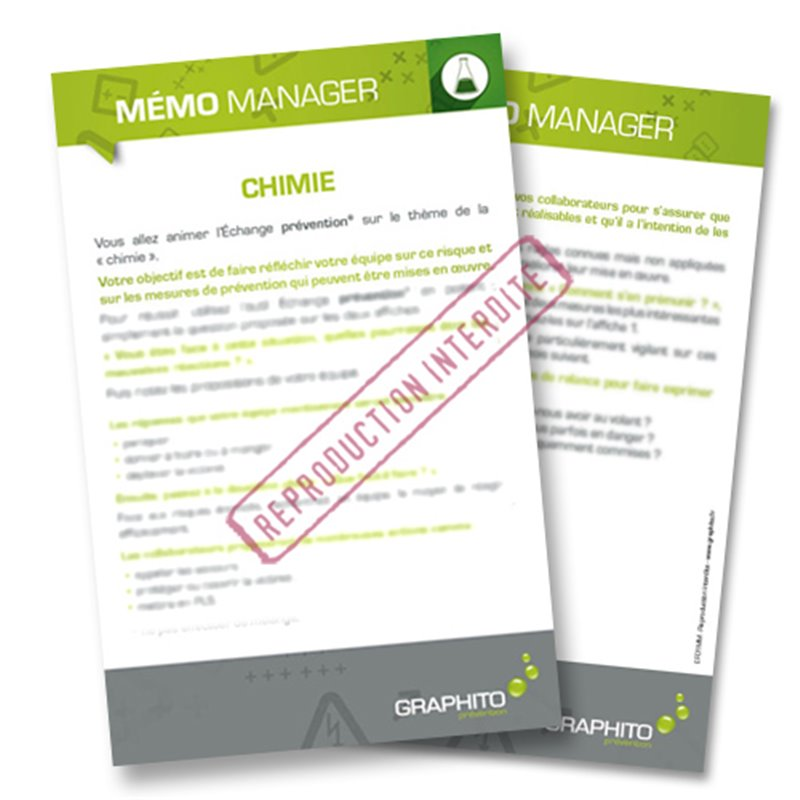Mémo manager - Chimie