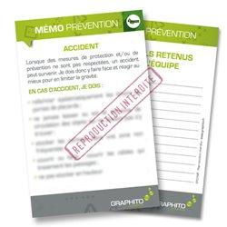 Mémo prévention- Accident