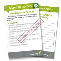 Mémo prévention - Engin de manutention
