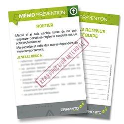 Mémo prevention  - Routier, respectez les règles