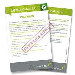 Mémo manager - Coupures