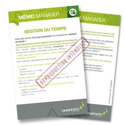 Mémo manager - Gestion du temps