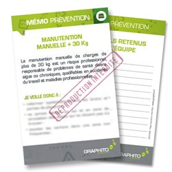 Mémo prévention - Manutention