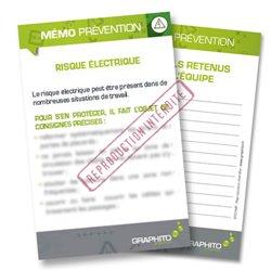 Mémo prévention - Risque électrique