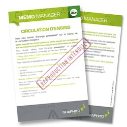 Mémo manager - Circulation d'engins