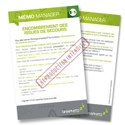 Mémo manager - Encombrement des issues de secours