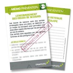 Mémo prévention - Encombrement des issues de secours