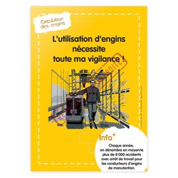 Affiche électrostatique engins