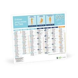 Calendrier sécurité prévention petit format 2020