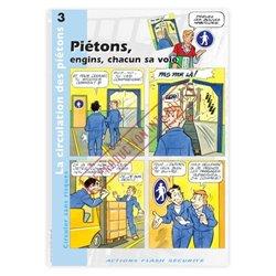 La circulation des piétons - Piétons, engins, chacun sa voie!