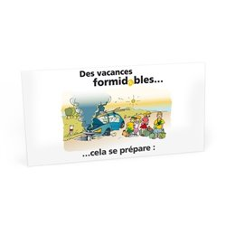 "Carte ""Vacances formidables"""