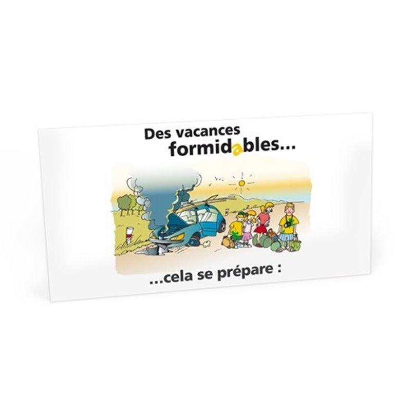 "Carte ""Vacances formidables"""