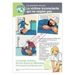 Secourisme - la victime inconsciente qui ne respire pas